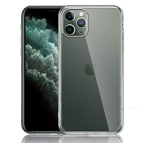 NEW'C Cover Compatibile con iPhone 11 Pro Max, Custodia Gel Trasparente Morbida Silicone Sottile TPU [Ultra Leggera e Chiaro]