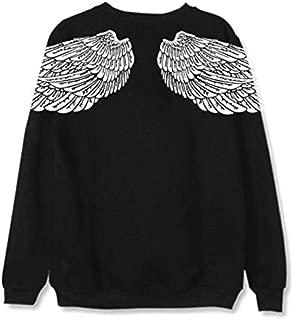 BTS same sweatshirts Back wing pattern unisex hoodies loose full sleeve coat couple clothes L