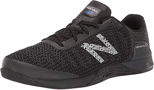 New Balance Men's Minimus Prevail V1 Cross Trainer, Black/Magnet, 15 M US