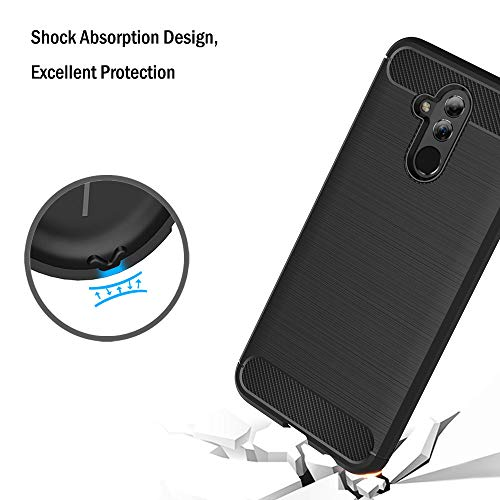 AICEK Hülle Compatible Huawei Mate 20 Lite, Schwarz Silikon Handyhülle für Huawei Mate 20 Lite Schutzhülle Karbon Optik Soft Case (6,3 Zoll) - 5