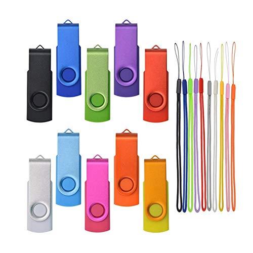 Pendrive 512MB 10 Piezas - Pequeña Capacidad Memoria USB - Almacenamiento de Datos Externo Multicolore by Kepmem