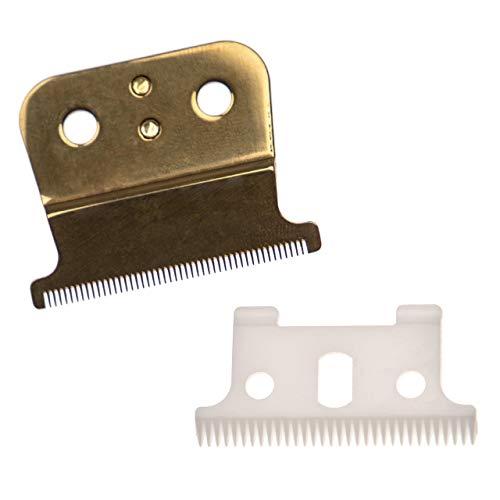 vhbw Juego de corte 2x hojas compatible con Andis Outliner II Trimmer, SL, SLS, T-Outliner Blackout T-Blade-Trimmer 05110 máquinas de cortar el pelo