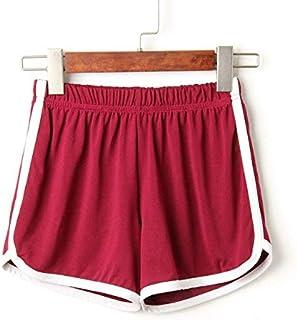 2018 Women Elastic Waist Short Pant Lady Summer Sport Shorts Beach Short Pants Soft Cotton All-Match Loos Short Femme :, S, United States