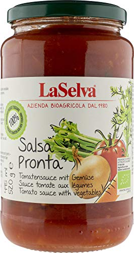 La Selva Bio Salsa Pronta - Tomatensauce mit Gemüse (6 x 520 gr)