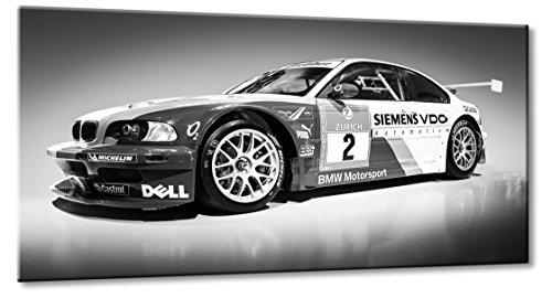 Leinwanddruck 0 Größe: 90cm x 165cm | BMW DTM Rennwagen 3 5 3er 5er Schwarzweiß Wandbild Design Kult Art | Aus der Serie BMW Sportwagen | Farbe: schwarzweiss | Rubrik: + Auto-Motive