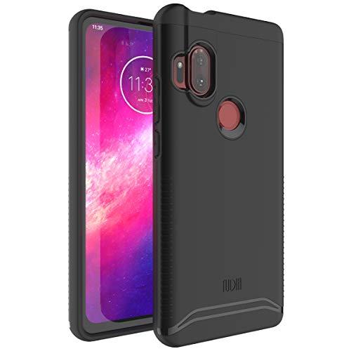 TUDIA DualShield Designed for Motorola One Hyper Case, [Merge] Heavy Duty Protection Slim Hard Shell Phone Case for Motorola One Hyper (Matte Black)