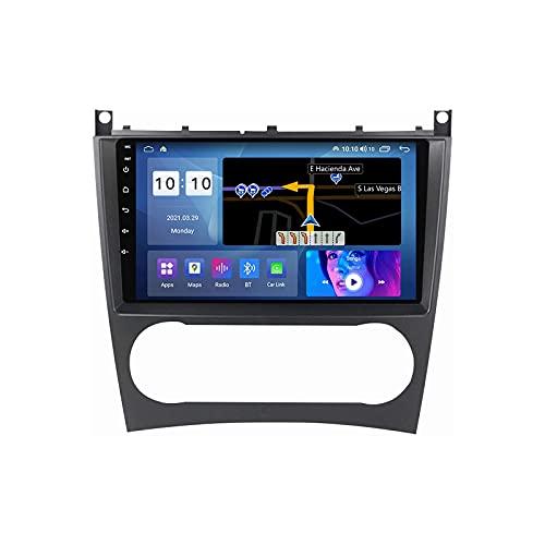 Android 10.0 coche Radio Stéreo Para B-enz W203 Multimedia Player FM Reproductor GPS Navegación IPS Pantalla Táctil Soporte 4G Wifi SWC Carplay Bluetooth DSP,8 Core 4G+WiFi: 4+64GB
