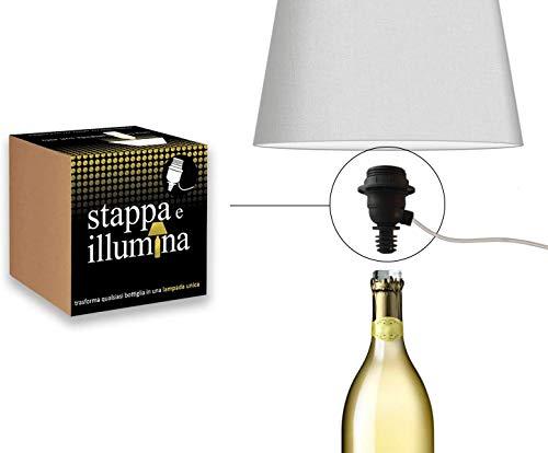 E27 Flaschenadapter, Flaschenlampen Adapter-Kit, für Magnum Champagner, Wein, Gin, Whisky