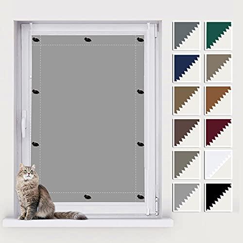 AIYOUVM Thermo-Rollo für Dachfenster, Aussenrollos Sonnenschutz, UV Schutz Blickdicht und Thermo Sonnenschutz, Rollo mit Bohren für Beliebige Fenster 60x78cm