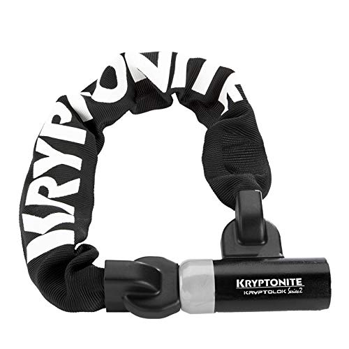 Kryptonite Kryptolok Series 2 955 55cm Mini Integrated Bike Chain Lock - Sold Secure Silver