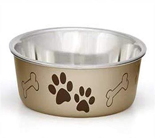 Loving Pets Metallic Bella Bowl, Medium, Champagne