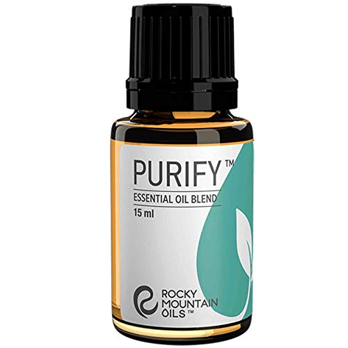 Rocky Mountain Oils Purify Essential Oil Blend - 100% Pure and Natural Essential Oils for Diffuser, Topical, and Home -15ml