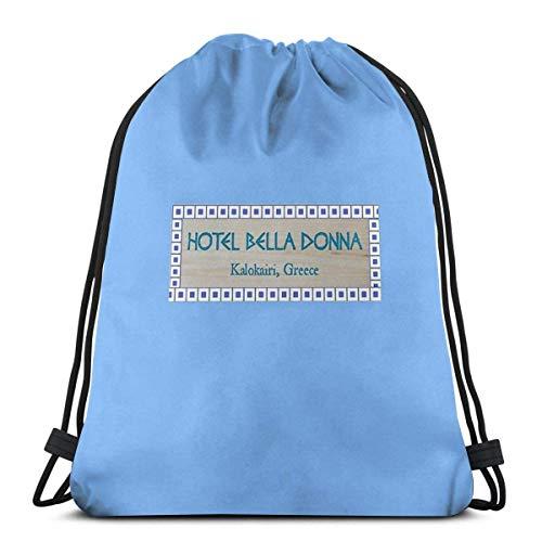 XCNGG Hotel Bella Donna Waterproof Foldable Sport Sackpack Gym Bag Sack Drawstring Backpack