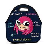 Caja de almuerzo Bento personalizada Ugandan Knuckles Doge Meme Parodia Bolsas de mano para niños, hombres, mujeres y niñas