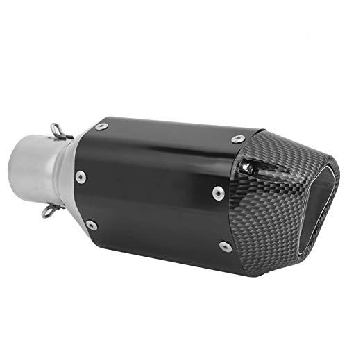 Qqmora Tubo de silenciador de Escape Universal Modificado para su vehículo para Motocicleta