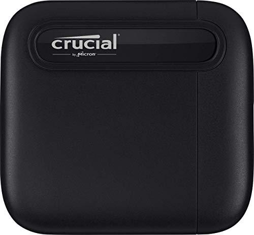 Crucial CT500X6SSD9 X6 500GB SSD portátil, de hasta 540 MB/s, USB 3.2, Unidad de estado sólido externa, USB-C