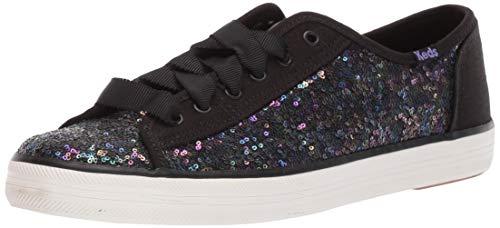 Keds Kickstart Mini Sequin Sneaker, Black, 7.5 M US