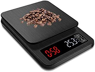 Portable Digital Scale with Timer 5kg/0.1g LCD Electronic Scales Food Balance Measuring Weight Kitchen Coffee Scales G LB OZ