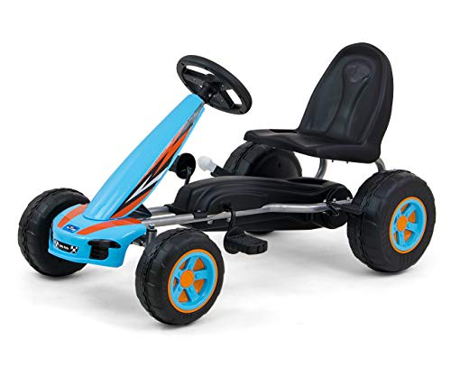 Milly Mally 5901761125832 Go-Kart with pedals Viper Blue, blau, 7.4 kg