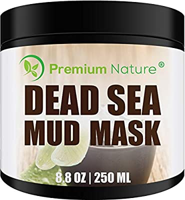 Dead Sea Mud Mask for Face and Body - 8 oz Melts Cellulite Treats Acne Strech Mark Removal - Deep Detox Cleaning Mask Pore Minimizer and Wrinkle Reducer - Natural Limited Edition Premium Nature by Premium Nature