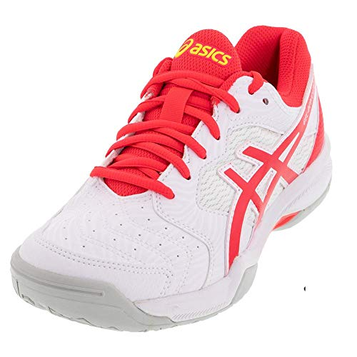 ASICS Gel-Dedicate 6 Women's Tennis Shoes, White/Laser Pink, 6.5 M US