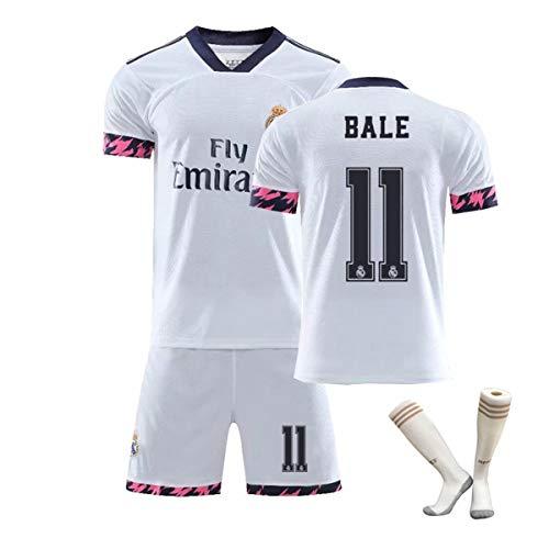 ZGDGG Herren Fans Trikots Real Madrid Fútbol 2020-21 Heimtrikot Sommer Locker Atmungsaktiver Fußball,Bale 11 a,M