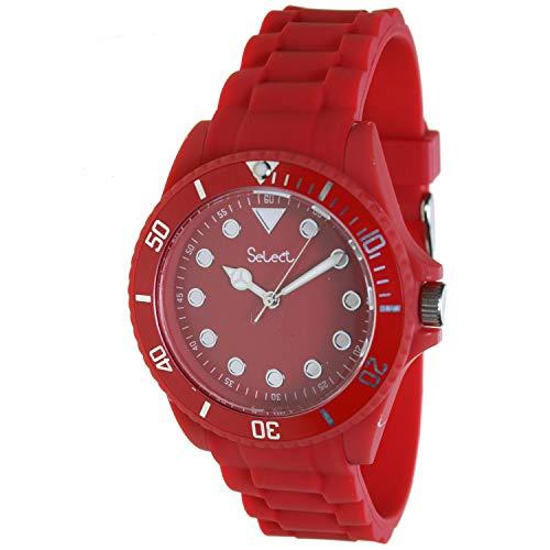 Select Lw-20 Reloj Analogico para Mujer Caja De Resina Esfera Color Rojo