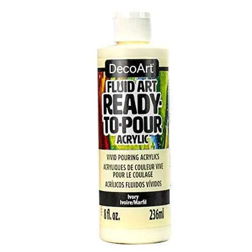 DecoArt Fluid Art Ready-to-Pour Acrylic Paint (Ivory)