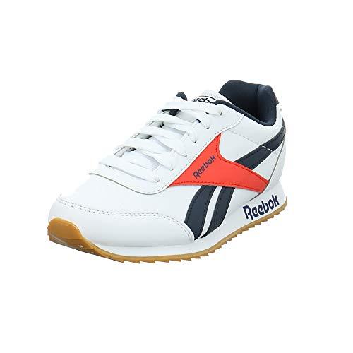 Reebok Jungen Royal Cljog 2 Sneaker, Mehrfarbig (Weiss/Maruni/RADRED), 35 EU