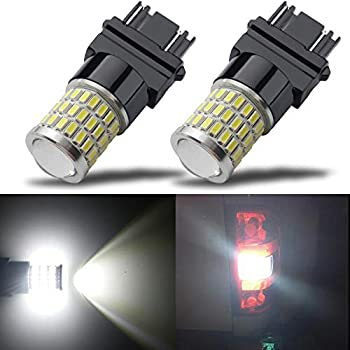iBrightstar Newest 9-30V Super Bright Low Power 3157 4157 3057 3156 LED Bulbs with Projector Replacement for Back Up Reverse Lights and Tail Brake Parking Lights Xenon White