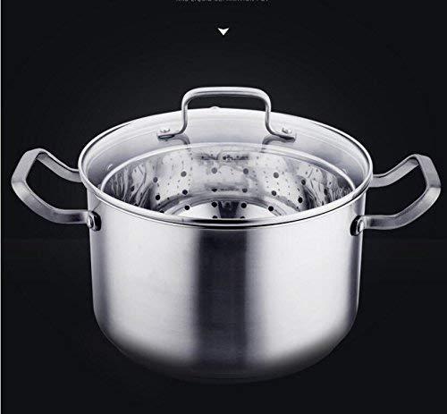 LIZANAN Cocina Regalo del día de Acero Sopa de Olla de cazuela Pan Cacerola Vapor Inoxidable multifunción al Vapor Sopa de Olla de la Madre Olla