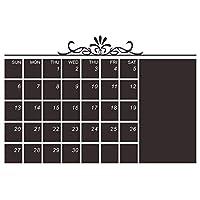 ウォールステッカー装飾的な壁画カレンダーDIY毎月黒板ベッドの取り外し可能なフレームメモ毎月プラン芸術の装飾