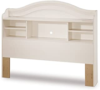 South Shore Summer Breeze Bookcase Headboard with Storage, Full 54