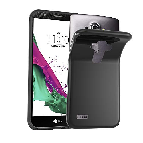 Preisvergleich Produktbild Cadorabo Hülle für LG G4S - Hülle in SCHWARZ Handyhülle aus TPU Silikon im Ultra Slim 'AIR' Design - Silikonhülle Schutzhülle Soft Back Cover Case Bumper