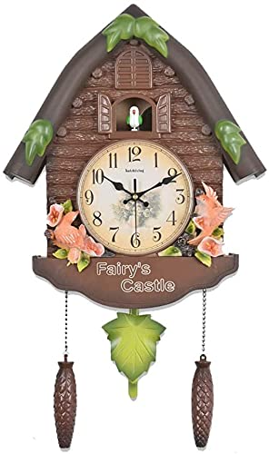 Digital Wall Clock Cuckoo Clock Clock Time Clock Personality Clock Suitable for Children Be'droom Kindergarten Home Decor Decorative Wall Clock for Home/Office/School (Col LATT LIV
