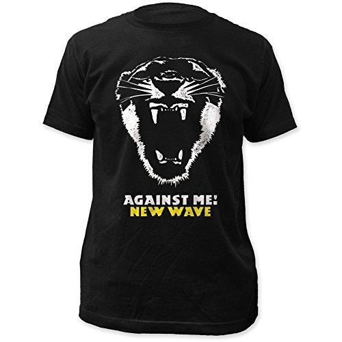 Against Me! New Wave Fitted Black Men's Cotton Shirt Black Large
