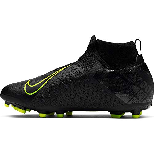 Nike Youth Phantom Vision Academy DF Soccer Cleats (Black, Numeric_5)