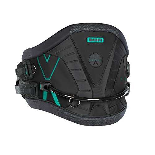 ION VERTEX Harness 2018 black/seaweed, S