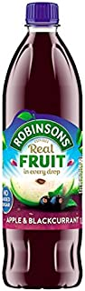 Robinsons Apple & Blackcurrant No Sugar Added 900ml (Pack of 2)