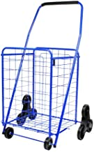 Helping Hand Deluxe Stair Climber Cart in Blue | Folding Cart Holds Up to 60 lbs - Great for Shopping, Camping, Sport Events, Much More