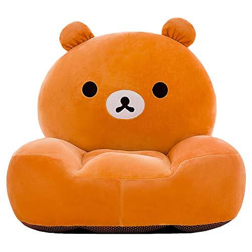 DQYFZQ Children's Winnie the Pooh foldable sofa children's plush sponge armrest sofa bed toy lazy sofa seat children's chair,Yellow,50cm