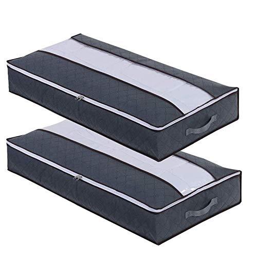 flintronic 2 Pcs Bolsa de Almacenamiento, 75L(100x50x15cm) Gran Capacidad Plegable Debajo de la Cama Organizador de...