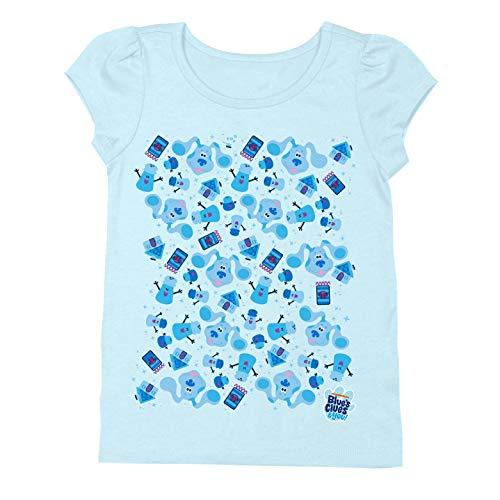 Nickelodeon Blue's Clues & You Toddler Girl Short Sleeve T-Shirt, Josh, Magenta, Light Blue, 3T