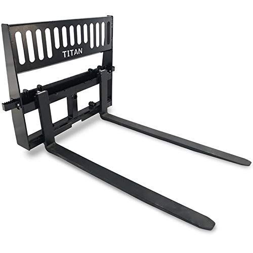 "Titan 60"" Pallet Fork Attachment Skid Steer Universal HD Pro Duty Tractor Loader"
