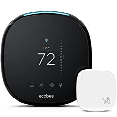 SAVE MONEY: Homeowners save up to 23% annually on heating or cooling costs, plus ecobee pays for itself in under 2 years (compared to a hold of 72 degrees). ROOM SENSORS: Place them in the rooms that matter the most and have the temperature balanced ...