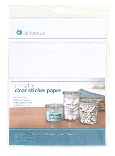 Silhouette druckbares Stickerpapier, durchsichtig