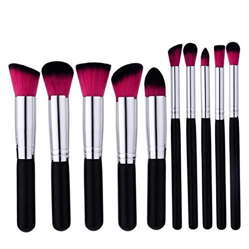 WWLZ 10 PCS Make Up Foundation Sourcils Eyeliner Blush Cosmetic Concealer Brosses