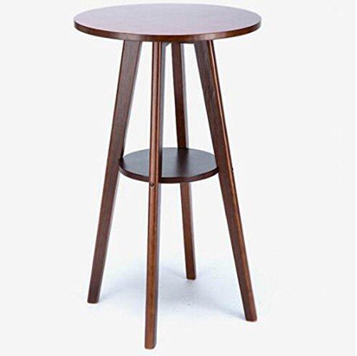 Tabouret en bois Table de bar en bois massif table ronde bar table haute table basse table basse (Couleur : B)