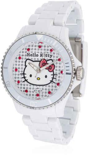 Hello Kitty Nichinan White - Reloj de Cuarzo para niñas, Color Blanco