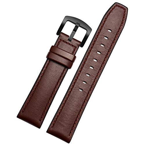 MPWPQ Ajuste para Huawei Watch GT 2 Bandas 46 mm para TicWatch Pro 22mm liberación rápida de Cuero Genuino de Cuero de Silicona Reloj híbrido Reloj de Reloj de Reloj